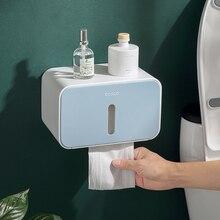 Toilet Paper Holder White Adhesive Bathroom Towel Portable  Hanger Tissue Box Home Hot Sale Roll