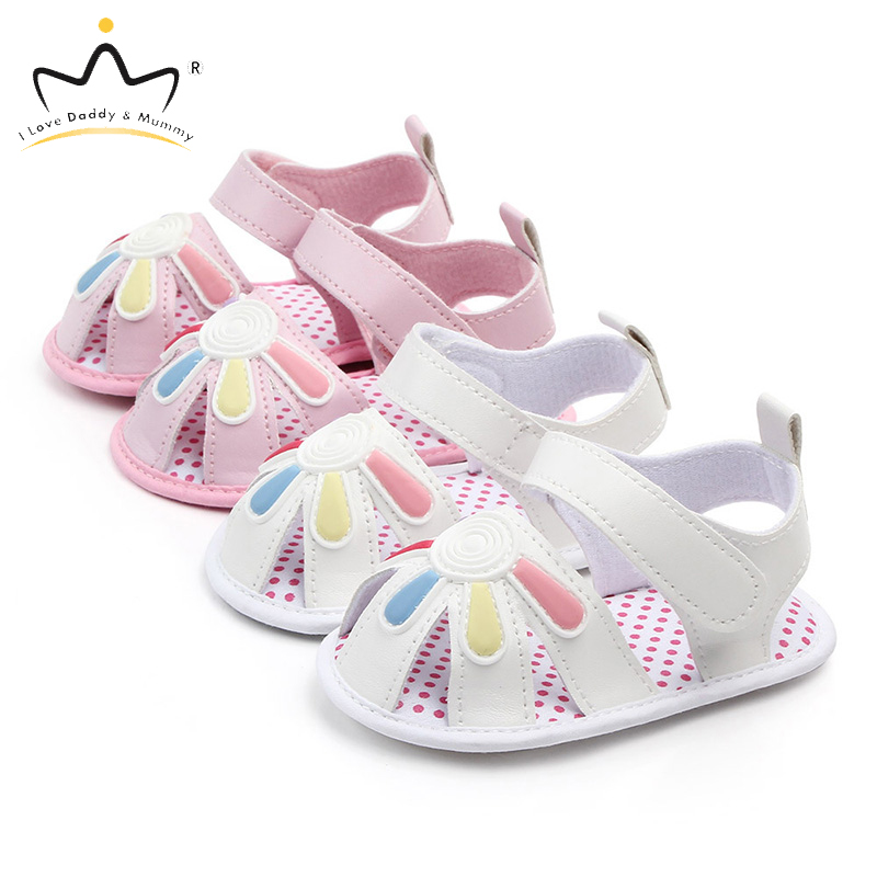 Cute Baby Girl Sandals Pu Leather Newborn Toddler Girls Sandals Soft Sole Non-Slip Infant Baby Girl Summer Shoes