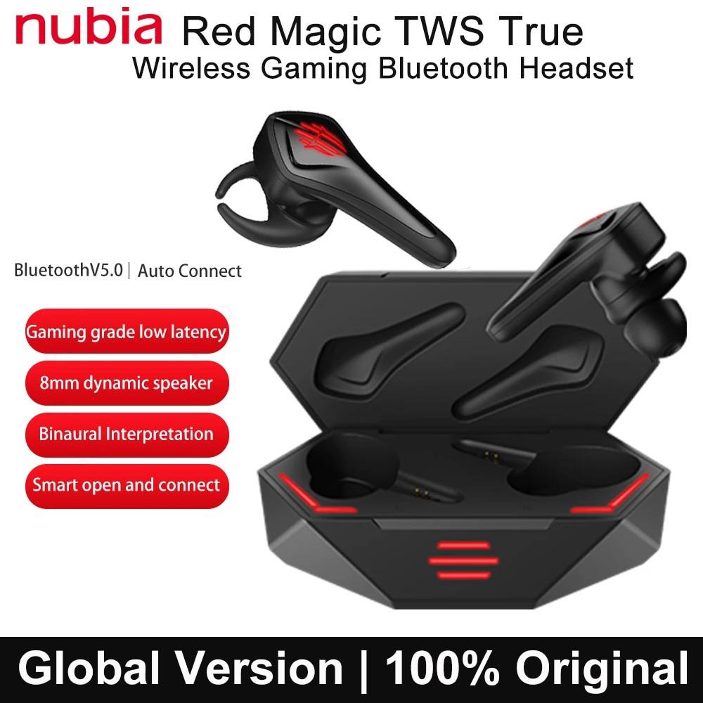 TWS-наушники ZTE nubia Red Magic с поддержкой Bluetooth 5,0 и игровой гарнитурой