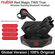 Globalne ZTE nubia czerwone magiczne słuchawki Bluetooth 5.0 TWS słuchawki Bluetooth słuchawki douszne do gier dla Xiaomi Samsung Huawei