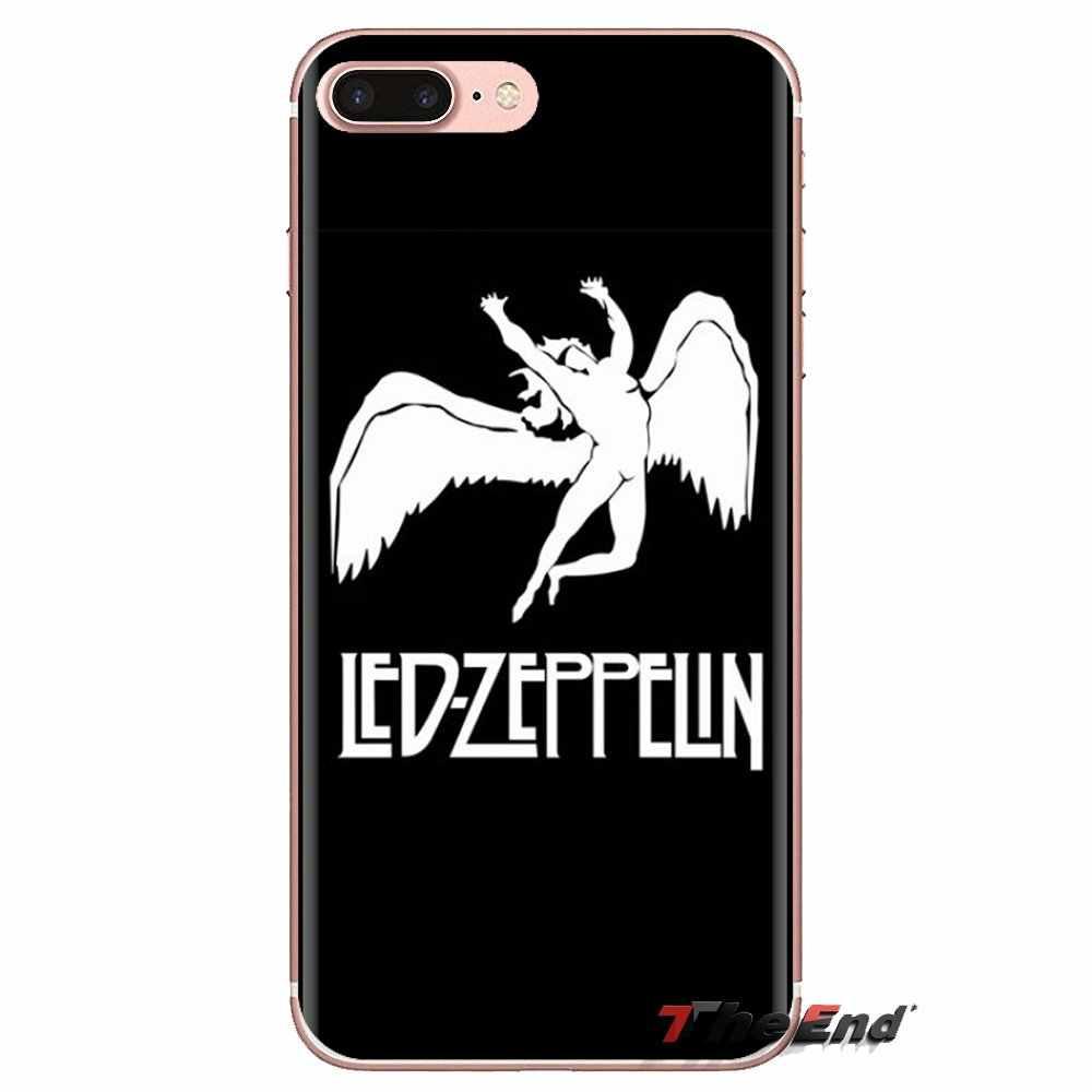 Dla Huawei Mate Honor 4C 5C 5X6X7 7A 7C 8 9 10 8C 8X20 lite Pro, miękkie, przezroczyste powłoki okładki Led Zeppelin