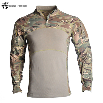 Military Uniform  Tactical Combat Shirt Us Army Clothing Tatico Tops Airsoft Multicam Camouflage Hunting FishingPants Elbow/Knee 10