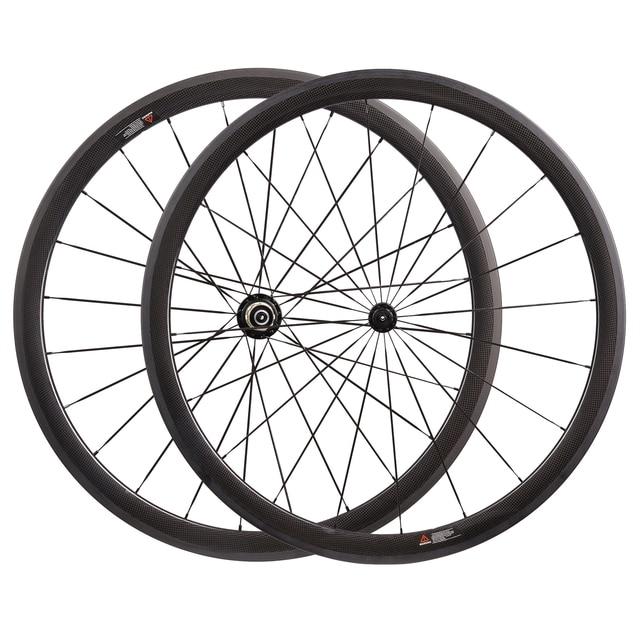 Ultraligero 1035 g 23 mm ancho 24 mm 38 mm 50 mm 60 mm 88 mm profundidad cubierta tubular o tubular de carbono ruedas de bicicleta de carretera R13 + Mac aero 424 radios