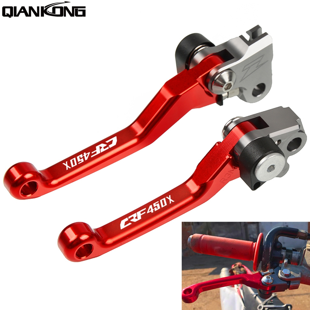 CNC Dirt bike Motorcycle Brake Clutch Levers Handle FOR HONDA CRF450X 2005-2018 2017 2016 2015 2014 2012 2011 <font><b>CRF</b></font> <font><b>450X</b></font> CRF450X image