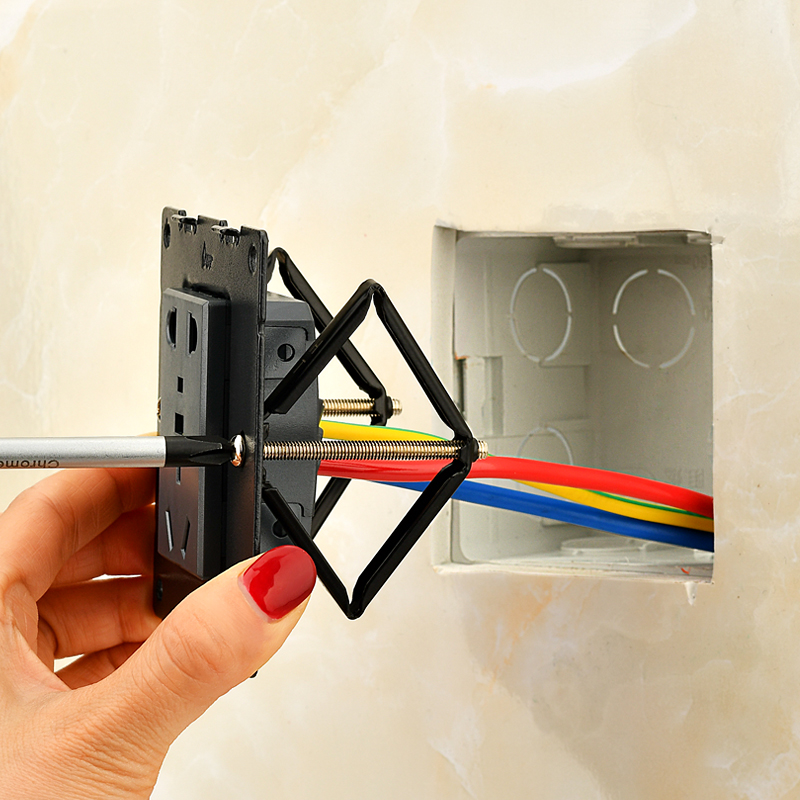 1 Set (6pcs) Wall Mount Switch Box Repair Tool Secret Stash 86mm Switch Cassette Repairer Support Rod Electrician Accessories