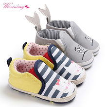 Toddler Baby Boys Girls Shoes Cartoon Animal Loafers Newborn Infant Soft Sole First Walker Prewalkers sx1(China)