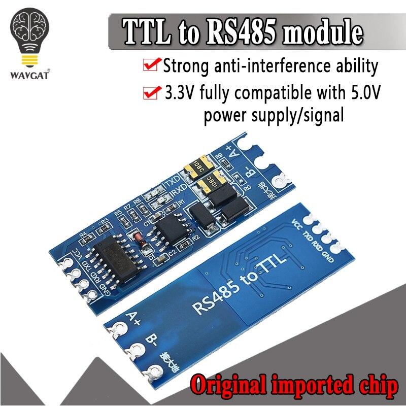 Módulo TTL Turno Para RS485 Hardware De Controle De Fluxo Automático Módulo Serial UART Nível Conversão Mútua Módulo de Alimentação 3.3V 5V