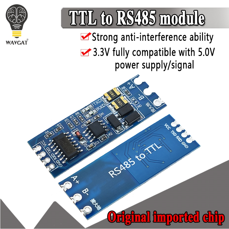 TTL Turn To RS485 Module Hardware Automatic Flow Control Module Serial UART Level Mutual Conversion Power Supply Module 3.3V 5V