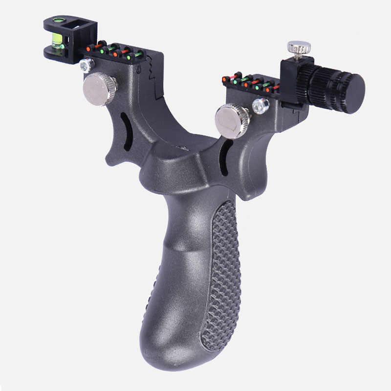 강력한 고무 밴드 slingshot 야외 고정밀 슈팅 플랫 가죽 slingshot 전문 빠른 활 사냥을위한 특별