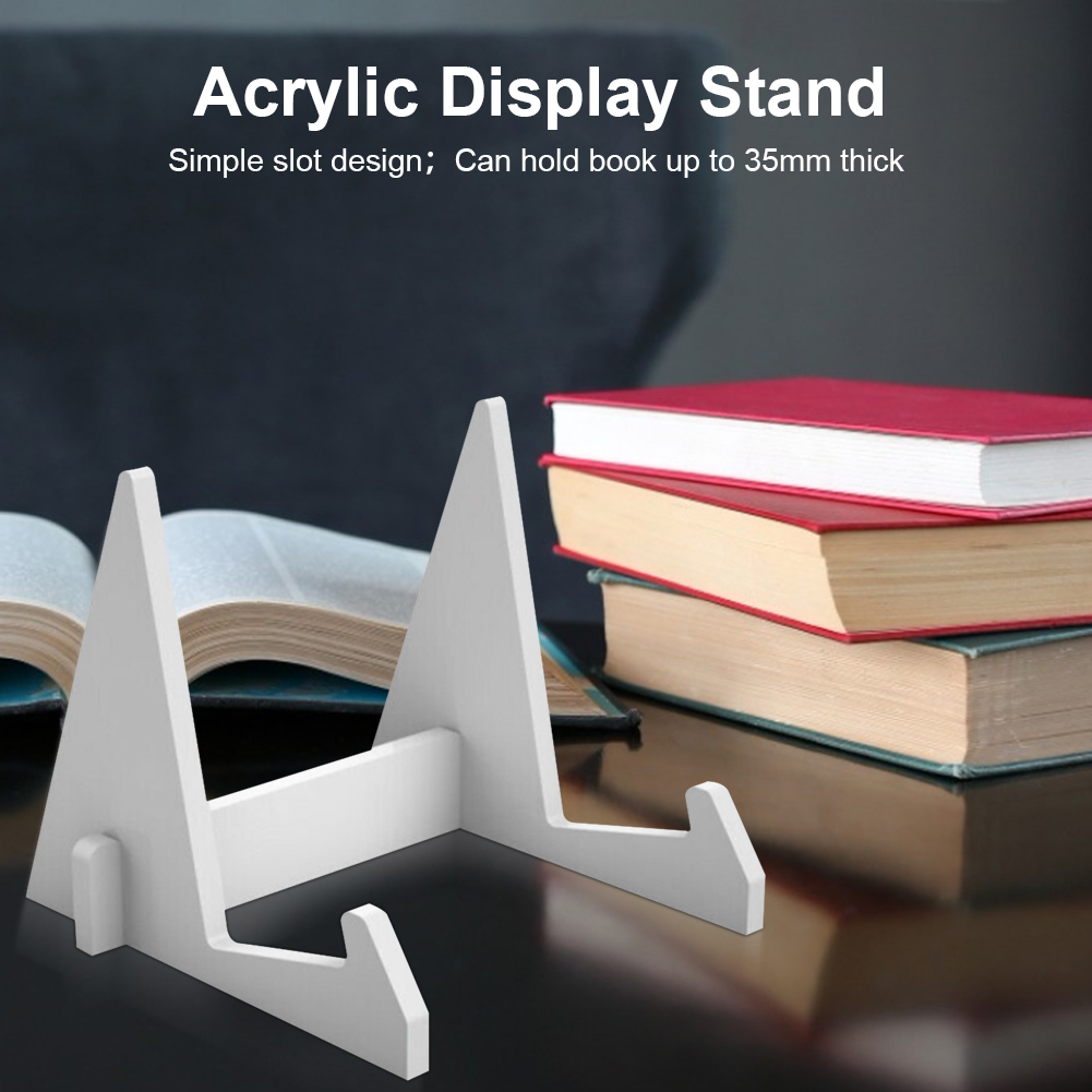 Acrylic Book Display Stand Retail Book Holder Cookbook Rock For Office Hold Up To 35mm Think Books