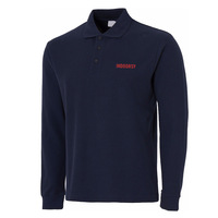 Mens Indoorsy Embroidery Embroidered Casual Long Sleeve Polo Shirts