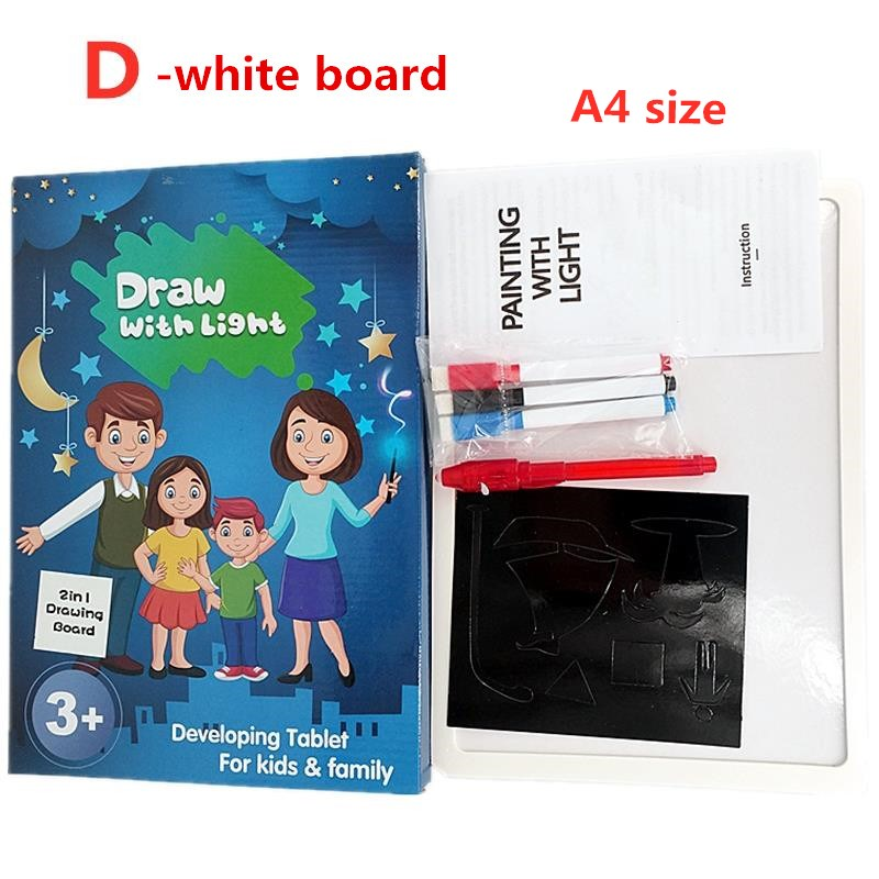 H44b6e2bac43746eeaf5f90a593a0982eU - Educational Toy Drawing Board Tablet Graffiti 1pc A4 A3 Led Luminous Magic Raw With Light-fun