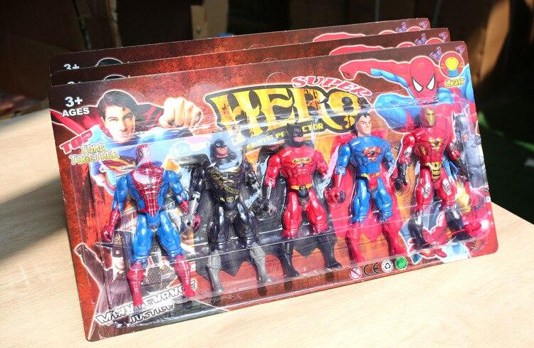 Marvel Superhero Avenger Iron Man Superman Batman ... Action Chart 15 * 9cm Set Of 5