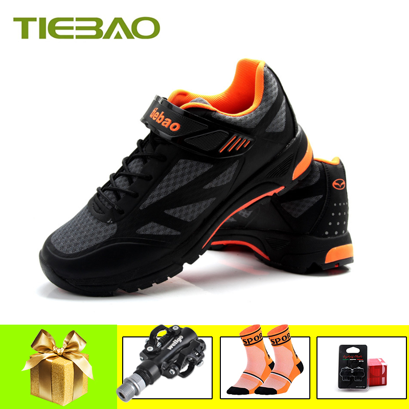 TIEBAO Leisure cycling shoes men women sapatilha ciclismo mtb pro self-locking breathable mountain bike shoes superstar sneakers