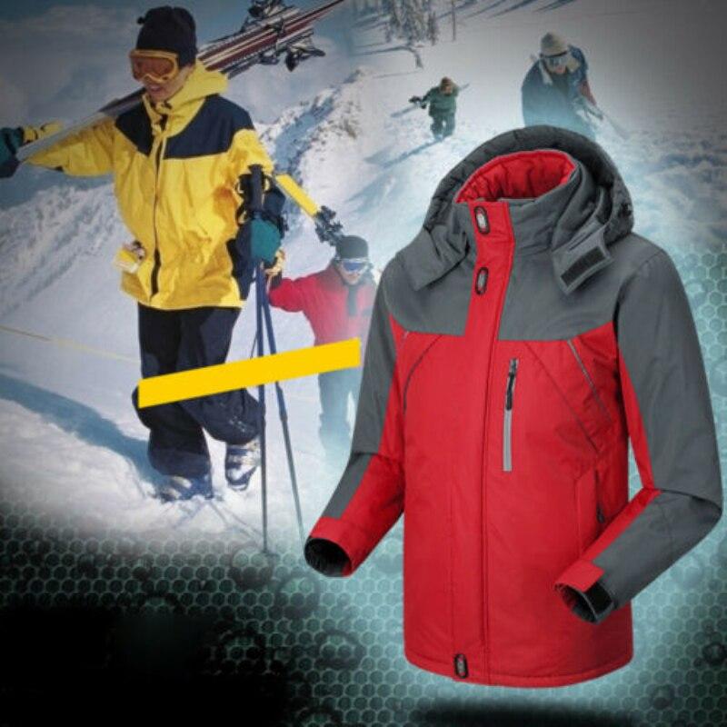 2019 Men Ski Jackets Windproof Waterproof Winter Warm Outdoor Sport Fleece Jacket Snow Skiing Snowboarding Hiking Trekking Coats