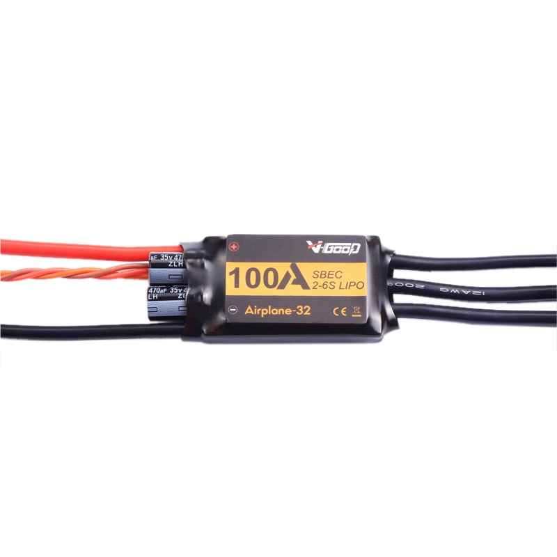VGOOD 100A 2-6S 32-Bit Brushless ESC with 5A SBEC for Fixed Wing RC Airplane image