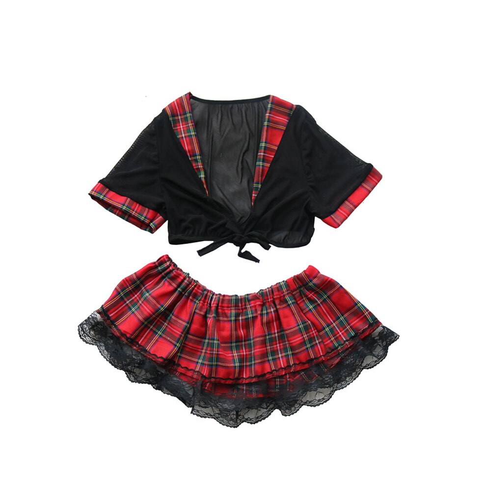 Большие размеры, эротические костюмы для косплея, комплект для женщин, Сексуальная мини-юбка школьницы, нижнее белье с глубоким v-образным в... 11