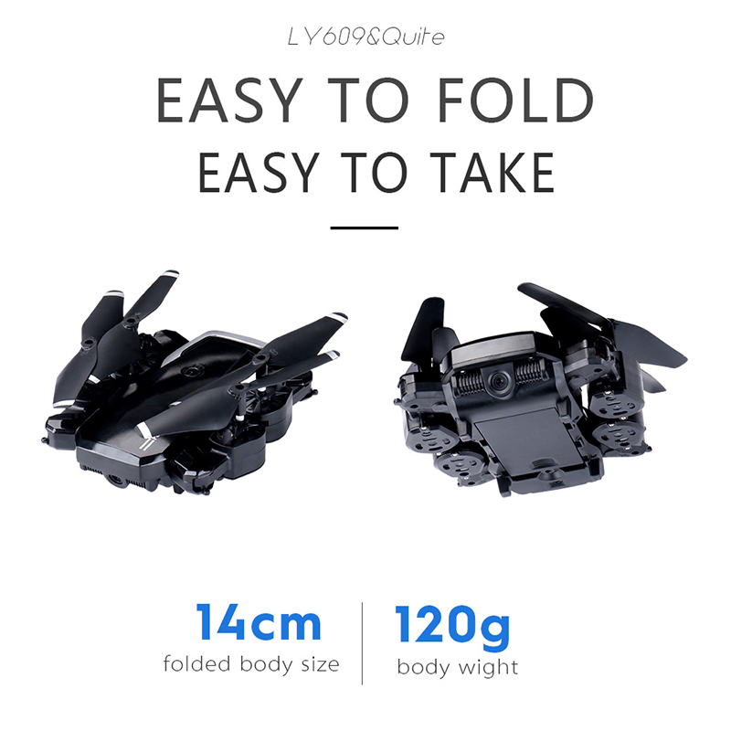LF609 4CH 4-Axis 480P drones con WIFI Foldable Speed Adjustable Hover Mini RC 360 Camera Drone Remote Control Kid Adult Toys New(China)