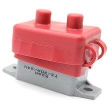 1 adet 12-24V 30A manuel sıfırlama cıvata tipi devre kesici yedek sigorta tutucu su geçirmez kauçuk kol 30 amp mini sigorta