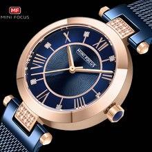 מיני פוקוס מקרית נשים שעונים ריינסטון עיצוב למעלה יוקרה מותג קוורץ שעון פשוט שמלת גבירותיי שעון עמיד למים reloj mujer