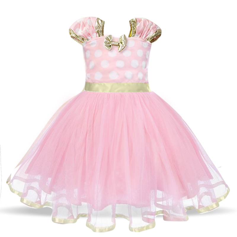Baby Birthday Dress Girls Christmas Dress Baby Girl New Year Dress Up Clothes Birthday Party Polka Dots Casual Wear Vestidos 24