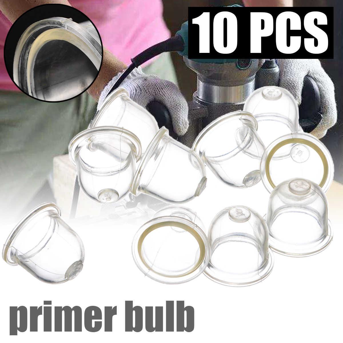 10 Pcs 19/22 Mm Clear Brandstofpomp Carburateur Olie Bubble Primer Lamp Voor Kettingzagen Trimmer Bosmaaier Clear Tool