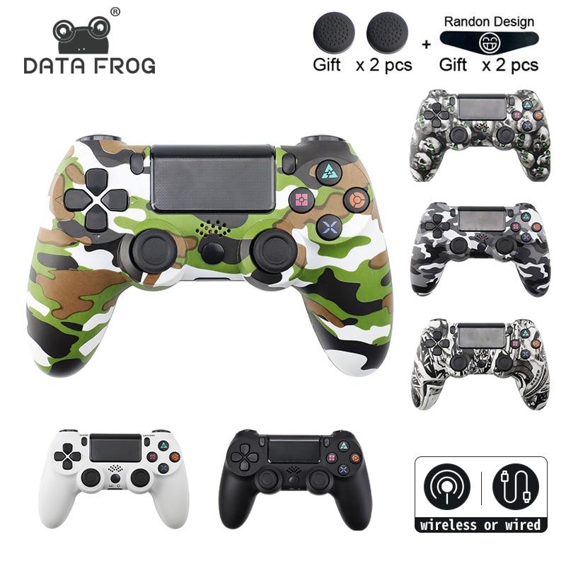 SAPO de DADOS Sem Fio Gamepad para Controlador Para Playstation Dualshock PS4 4 Com Fio/Sem Fio Bluetooth Joystick Gamepads