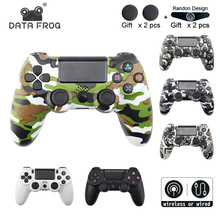 лучшая цена DATA FROG Wireless Gamepad for PS4 Controller For Playstation Dualshock 4 Wired/Wireless Joystick Bluetooth Gamepads