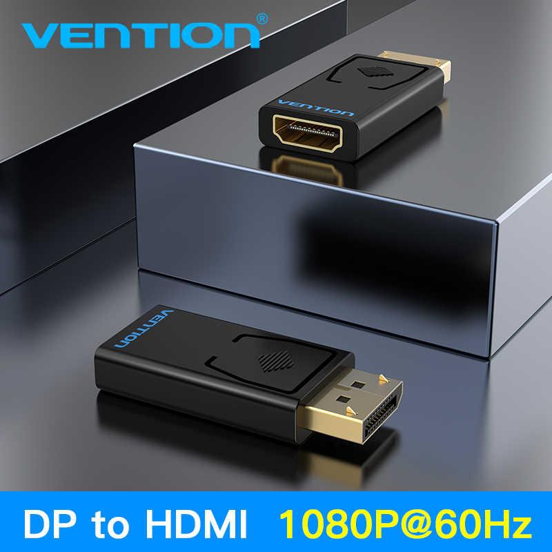 Vention dp para hdmi adaptador 1080 p porta de exibição macho para hdmi conversor fêmea para computador portátil projetor displayport para hdmi adaptador