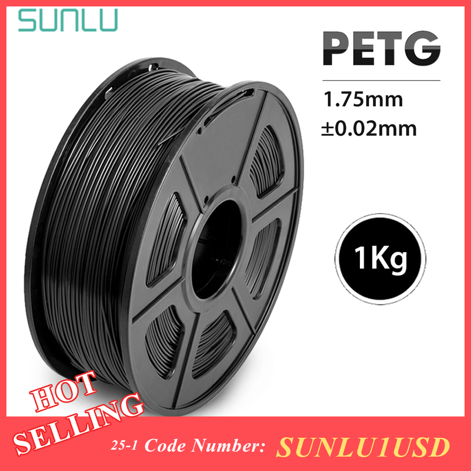 Filamento SUNLU Translucence PETG para impresora 3D, filamento PETG de buena dureza de 1,75 MM, 1KG con Material consumible de pantalla de carrete