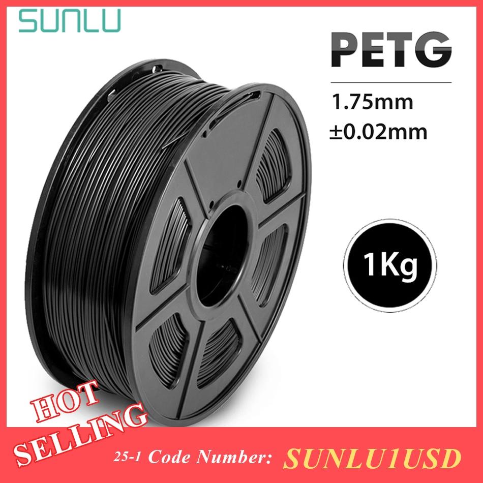 SUNLU 반투명 PETG 필라멘트 3D 프린터 용 1.75MM 좋은 인성 PETG 필라멘트 1KG 스풀 갓 소모품