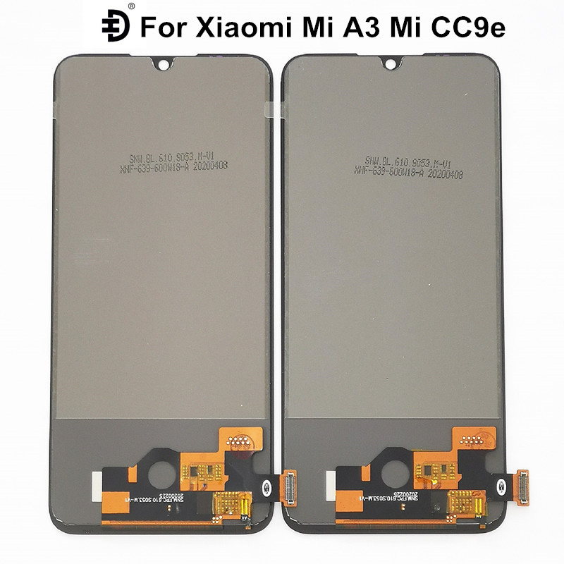TFT Screen LCD For Xiaomi Mi A3 Mi CC9e LCD Display Touch Panel Digitizer Assembly For Xiaomi Mi CC9e MiA3 Display Replacement