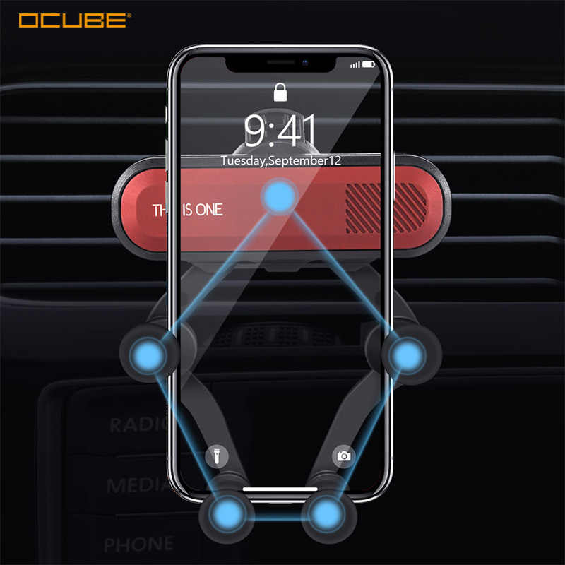 Gravity Car Phone Holder For Xiaomi Redmi Note 8 7 9 Samsung A50 A70 S10 S9 In Car Air Vent Mount Car Holders Mobile Phone Stand