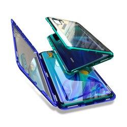 Роскошный Металлический флип-чехол для huawei Honor 10 10Lite V10, Магнитный чехол для телефона, переднее и заднее, двойное закаленное стекло-броня, вид...