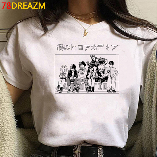 My Hero Academia Bakugou Todoroki t shirt female streetwear ulzzang white t shirt japanese casual tshirt tumblr 3