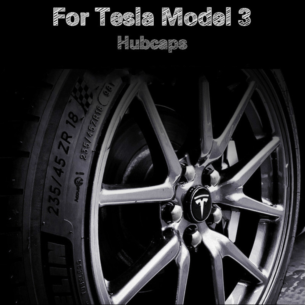 Wheel Cover Trim Car Accessories For Tesla Model 3 Wheel Accessories Model 3 Tesla Three Tesla Model 3 Auto Accessoires Model3