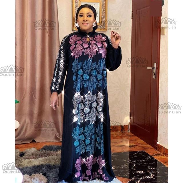 African Oversize African Loose Design Diamond Dress 2