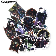 L3651 17 Pcs/set Maleficent DIY Skateboard Graffiti Laptop Badge Motorcycle Luggage Bags Accessories