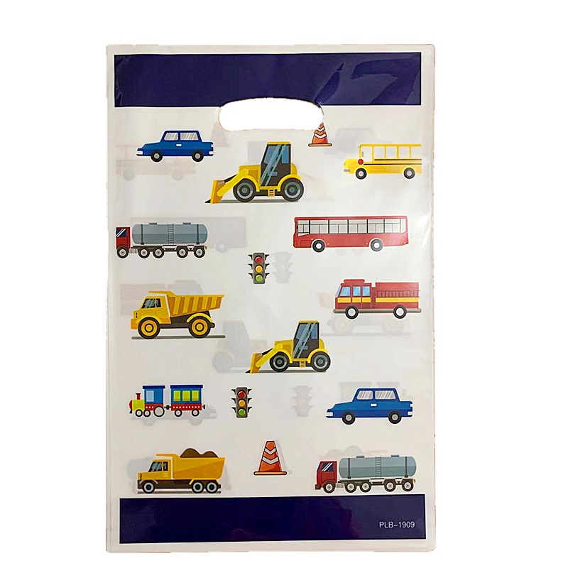 10pcs Construction Car Pattern Gift Bag Baby Shower Kids Birthday Construction Vehicle Candy Bag Festival Supplies Loot Gift