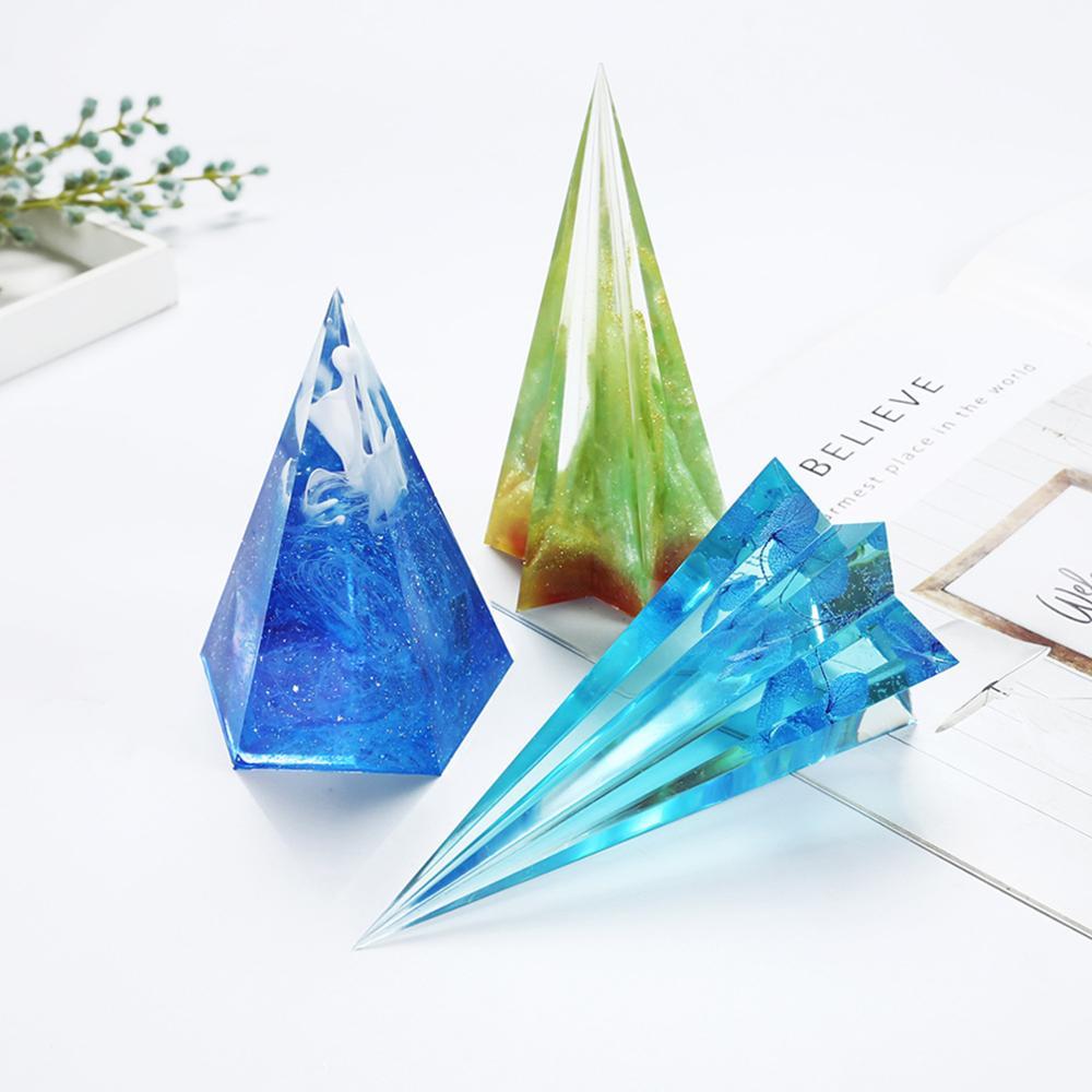 Diy forma de diamante feito à mão molde de vela cone clara vela acrílica que faz o modelo reusável tealight scented vela que faz o molde