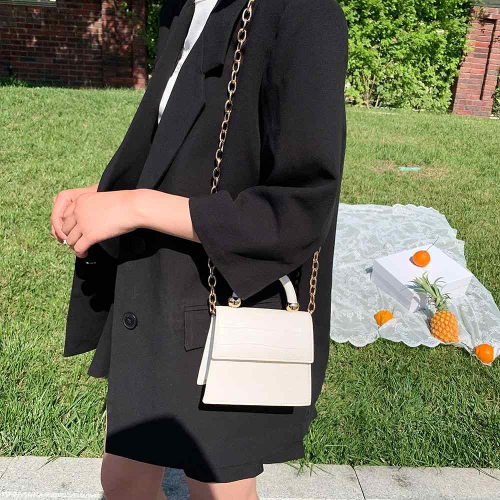 Luksusowy wzór z kamieniem Mini PU skóra Crossbody torba dla kobiet ramię Messenger torebki 2020 łańcuch podróży torby na telefon skrzynki