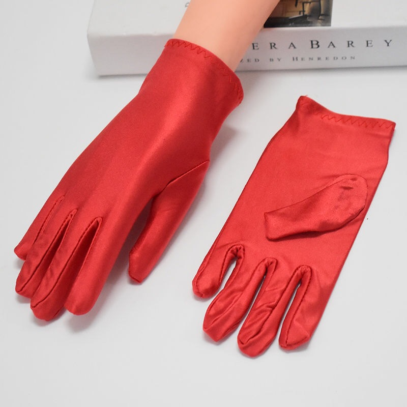 NEW Fashion Women Protective Glooves Summer Driving Gloves Men Women Spandex Gloves Ceremonial Gloves Smooth Stretch Solid Unise