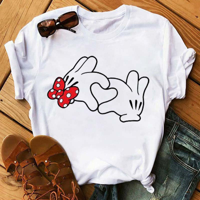 Tumblr Femme Girl Tees Hipster Kawaii Holiday Summer Femme Top Maycaur Minnie Mouse Cute TShirt Vogue Women Mouse Printed Shirt