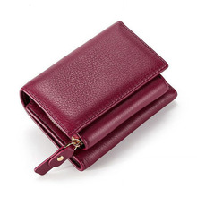 Fashion Short Womens Wallet Genuine Leather Women