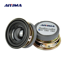 AIYIMA 2 adet 1.5 inç tam frekanslı ses hoparlörü 40MM 4 Ohm 3W Bluetooth hoparlör PU havza hoparlör ses amplifikatörü DIY