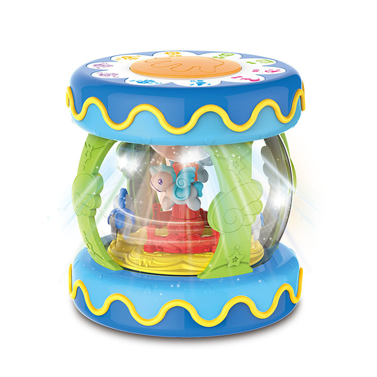 Emperor Children Charging-Baby Toys Merry-go-round Hand Drum Early Childhood Educational Children Multi-functional Battery Music