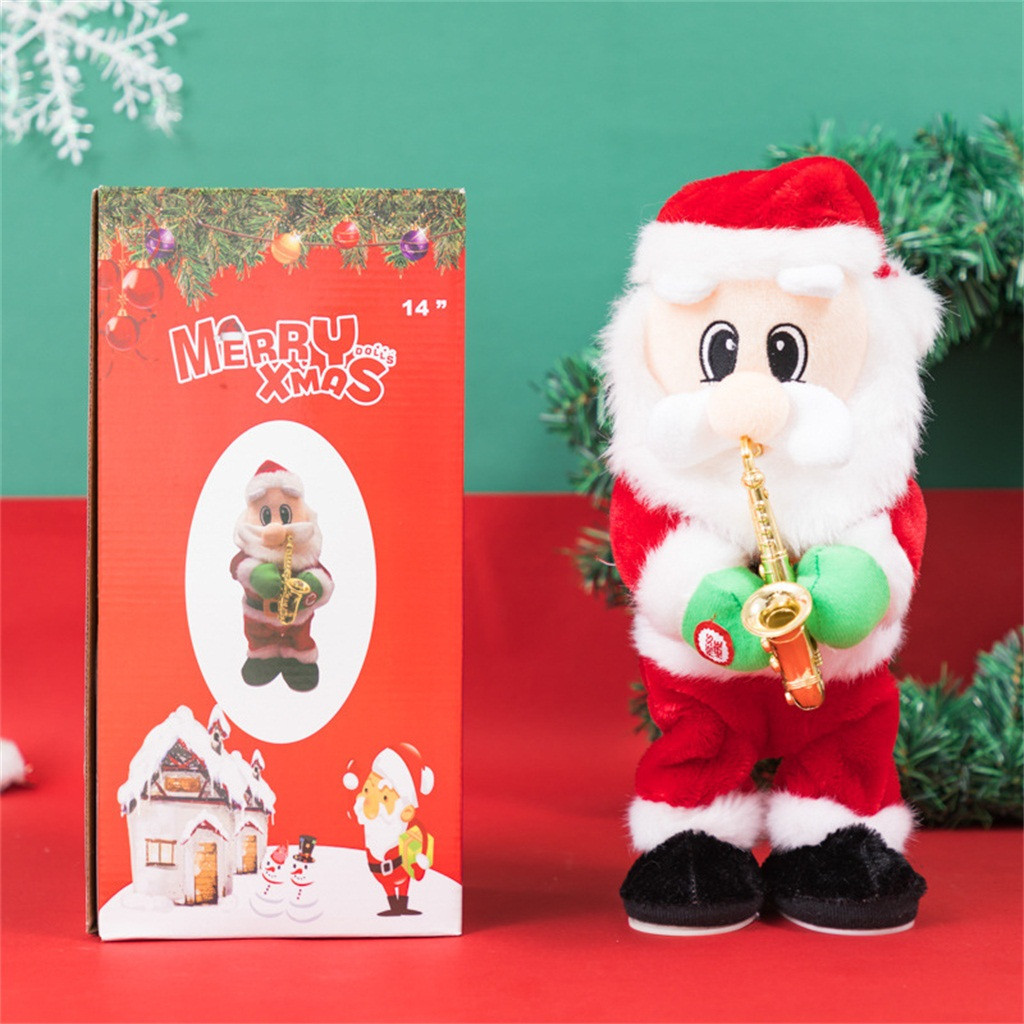 Electrical Santa Claus Blowing Saxophone Twisted Hip Music Doll Toy Christmas Xmas Gift Kids Toys Juguetes Brinquedos игрушки