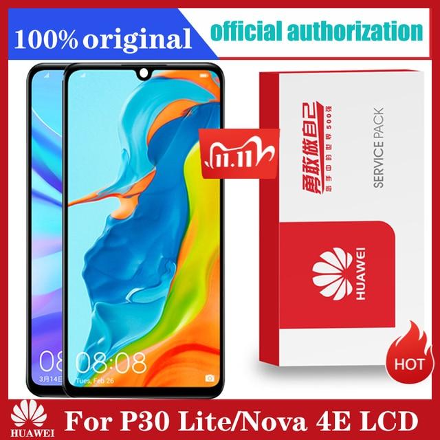 Originele 6.15 Display Met Frame Vervanging Voor Huawei P30 Lite Nova 4e Lcd Touch Screen Digitizer Vergadering MAR LX1 LX2 AL01