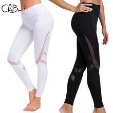 New Women Hot Yoga Pants Mesh Patchwork Sport Leggings Push Up Tights Gym Exercise High Waist Fitness Running Trousers Sportwear hot women bubble push up hip yoga pants sexy high elastic sport leggings tights gym exercise high waist fitness running trousers