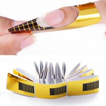 20 sztuk 10 sztuk paznokcie typu French formularz porady dla akrylowe UV paznokcie żelowe rozszerzenie formularz porady przewodnik wzornik Manicur przyrząd kosmetyczny tanie tanio Nail Forms Do paznokci ABD3552 20pcs 10pcs Nail Extension Form